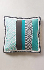 Anthropologie Mandalay Euro Sham Blue Patchwork eclectic New NIP One Piece