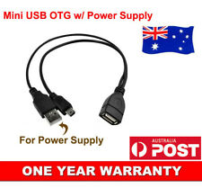 Mini USB OTG Adapter Cable Cord With External Power Supply Support Portable HDD