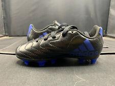 adidas Goletto VII FG J Soccer Cleats Black/Blue US Kid's Sizes HP169