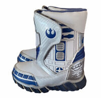 Star Wars R2d2 Light-up Kids Cold Weather Boots White Size 8 toddler snow winter
