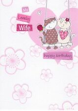 My Lovely Wife Birthday Greeting Card Second Nature Cards Flittered Glitter