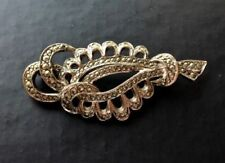 Rhodium Plated Brooch/Pin Marcasite Vintage & Antique Jewellery