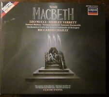 London #417 525-1 VERDI MACBETH Leo Nucci Shirley Verrett Riccardo Chailly FINE