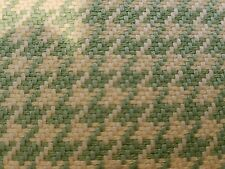Houndstooth Retro green Fabric Upholstery General Sewing  by the Yard woven