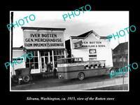 OLD LARGE HISTORIC PHOTO OF SILVANA WASHINGTON, THE IVOR BOTTEN STORE c1915