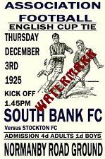 SOUTH BANK - VINTAGE 1920's STYLE MATCH POSTER