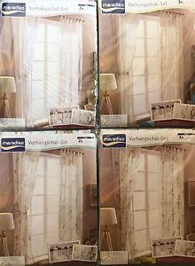MERADISO Vorhangschalset 2 - teilig 135 x 265 cm 4 varianten Gardinen Vorhänge