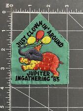 Vintage Just Clownin' Around Jupiter Ingathering '85 Patch 1985 Girl Scouts Camp