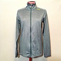 Reebok Womens Jacket S Gray Reflective Full Zip Long Sleeve Fleece Lined
