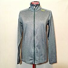 Reebok Womens Jacket S Gray Reflective Full Zip Long Sleeve Lined Yoga Run Gym