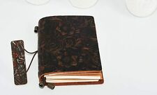 Floral Leather Notebook Journal Handmade Vintage Travel Diary Notepad Book Pad