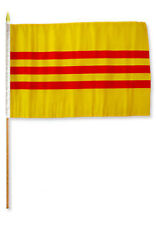 "12x18 12""x18"" Wholesale Lot of 3 South Vietnam Stick Flag wood Staff"