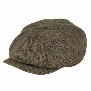Gorra Gatsby de vendedor de periódicos de lana para hombre