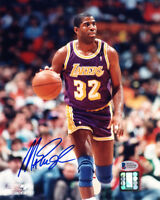 MAGIC JOHNSON SIGNED AUTOGRAPHED 8x10 PHOTO LOS ANGELES LAKERS HERO BECKETT BAS