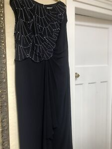 JACQUES VERT MOTHER OF THE BRIDE / OCCASION 2 PIECE NAVY OUTFIT SIZE 18