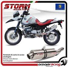 Storm OVAL terminale di scarico in acciaio omologato per BMW R1150GS 1999>2003
