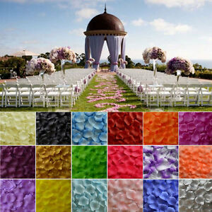 100 ~ 1000 Flower Girl Basket Rose Artificial Silk Petals Wedding Table Scatters