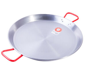 46cm Polished Paella Pan - Stainless Steel Valencian Paellera- Next Day Delivery
