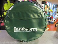 """LAMBRETTA S3 Li TV SX GP ALL MODELS 10"""" SPARE WHEEL COVER GREEN WITH POCKET"""