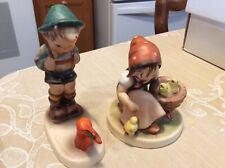 New ListingHummel Goebel Figurines- Girl With Chicks And Sensitve- 2 For one price