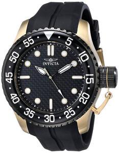 Invicta 17511 Pro Diver Black Dial Black Silicone Strap Men's Watch
