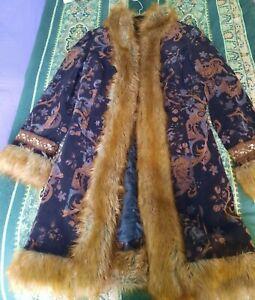 STUNNING true Vintage Afghan.hippy boho coat/jacket.size 12/14. festival.