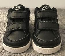 🖤 Nike Bebé Niños Entrenadores Negro Cuero Uk Tamaño Infantil 3.5 🖤