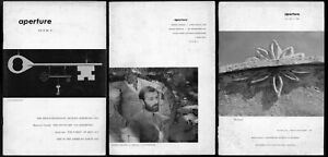 Aperture Magazine, three early issues, nos 3/2, 3/4, 4/1 (1955), ed. Minor White