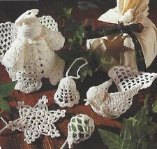 Christmas Tree Decorations Crochet Pattern Angel Dove Snowflake Bell Bauble 887