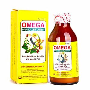 Omega pain killer 60 ml  massage oil Liniment Fast Relief Arthritis Muscle Pain