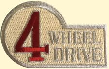 4 Wheel Drive Embroidered Iron on Patch, Off Roading, Four Wheel Drive SUV Truck