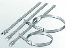 STAINLESS STEEL CABLE TIES 8 X 200MM AND 2 X 300MM EXHAUST HEAT PROOF CHEV FORD