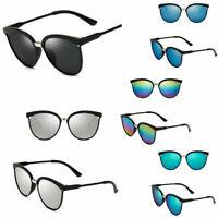 Women's Vintage Mirror Designer Flat Lens Sunglasses Retro Eye Glasses Eyewear /