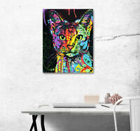 """1PCS Color Cat Art Paintings Photo Printed On Canvas No Frame 16X20"""" 1L2032"""