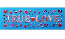 Momenta *TRUE LOVE* Epoxy Stickers - Valentines Hearts Gems Love Romance