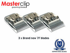 3 x New Masterclip 7F Dog or Horse Clipper Blades 3mm A5 Size fits Andis & Oster