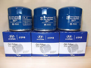 GENUINE HYUNDAI ELANTRA SEDAN&  HATCHBACK PETROL OIL FILTER VALUE PACK (6 EA)