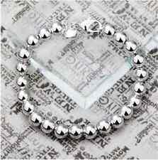 925 silver hollow bead bracelet  Birthday Bridesmaid lovers gift uk seller