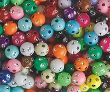 35 Shining Dot Beads Round 8mm Lots of Colors Great!