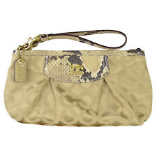 NEW Coach Madison Op Art Capacity Wristlet w Python Embossed 46638 Natural