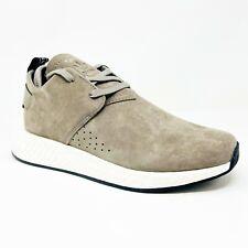Adidas NMD C2 Brown Black Mens Pigskin Suede Running Sneakers BY9913