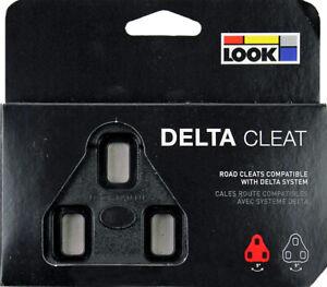 NEW 2021 Genuine LOOK DELTA Pedal Cleats 0° No Float Fit ALL DELTA Pedals: BLACK
