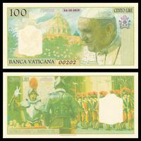 Vatican 100 Lire, 2019, Private Issue, Kamberra, UNC,  Pope Fran