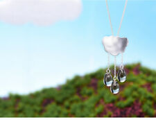Unique Natural Crystal Solid 925 Silver Cloud Long Tassel Pendant for Women Gift