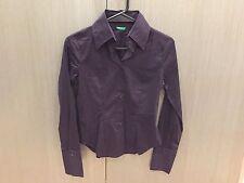 Brand New United Colors of Benetton Shirt Dark Purple Size XS