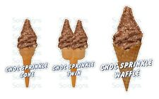 Choc Sprinkles Whippy Ice Cream Cone Stickers Set of 3 - Single, Twin & Waffle