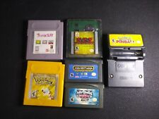 6 Gameboy Color and Advance Games Lot Pokemon Yellow, Pokemon Pinball, and more!