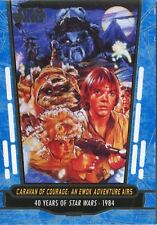 Star Wars 40th Anniversary Blue Base Card #68 Caravan of Courage: An Ewok Adven