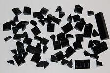 LEGO 65 Dachsteine Schrägsteine Slope 45° negativ schwarz black #62