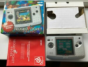 SNK NEO GEO POCKET COLOR (Silver), Boxed & Complete - Excellent condition
